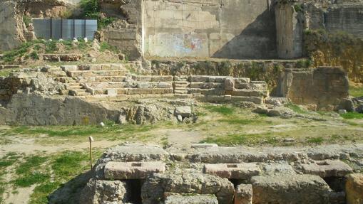 Vista de las gradas del teatro romano de Tarragona