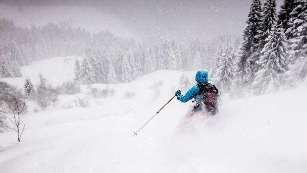 Foto de Olly Bowman, que suele pasar el invierno en Chamonix. Actualmente, es embajador de Huawei