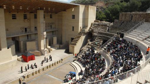 Obra de teatro clásico en el teatro Romano de Sagunto, en 2009