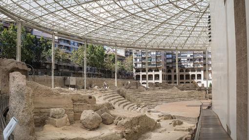 Estructura protectora del Teatro Romano de Zaragoza