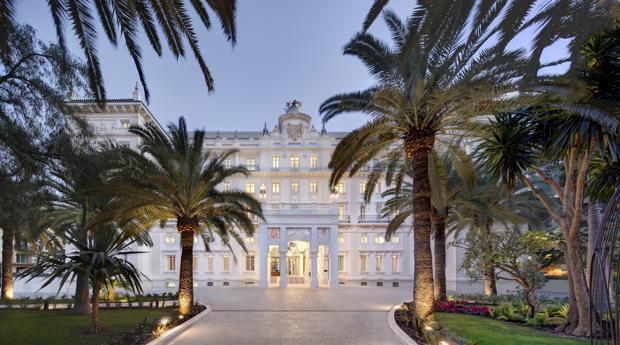 Fachada del Gran Hotel Miramar, en Málaga