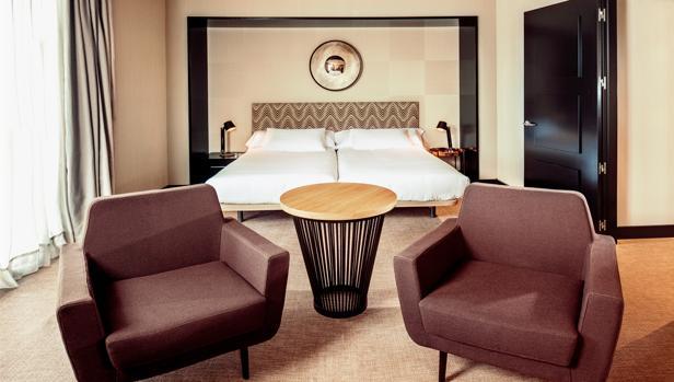 Interior de una de las habitaciones del hotel Conde Luna