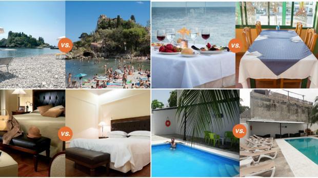 El sitio de reservas de hoteles Oyster.com comparar las fotos de las web de los hoteles con las propias