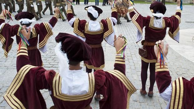 Procesión de El Curpillos, fiesta declarada de interés turístico regional, en la capital burgalesa