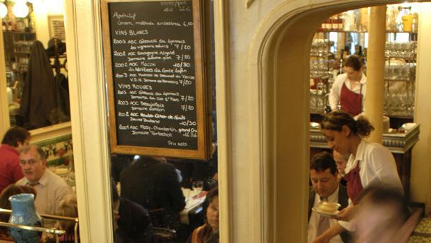 Interior de Aux Lyonnais, de Alain Ducasse