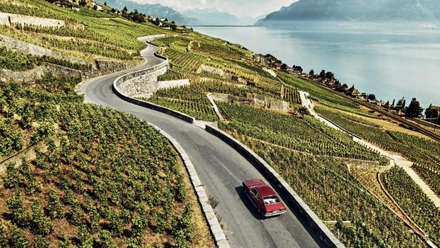 Ruta en coche junto a los viñedos de Lavaux