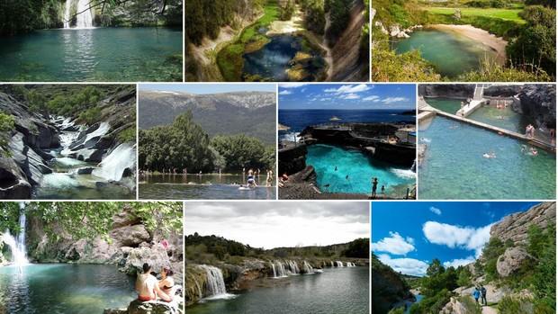 Imágens de diez de las piscinas naturales que merece la pena descubrir en España