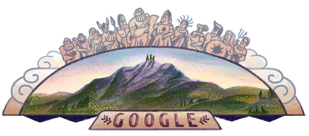 Homenaje a los tres escaladores que escalaron el monte Olimpo en 1913