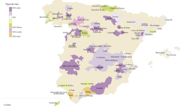 La España del vino tinto y del vino blanco