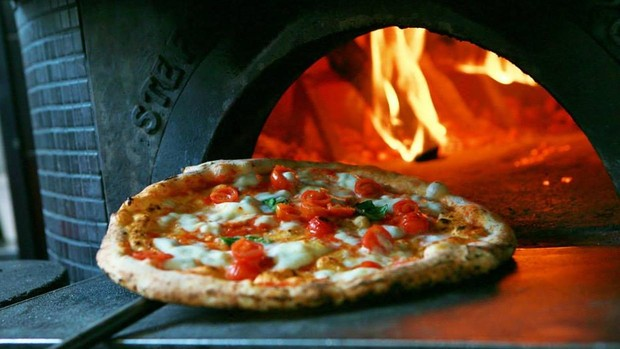 El horno de N.A.P. Neapolitan Authentic Pizza, en Barcelona
