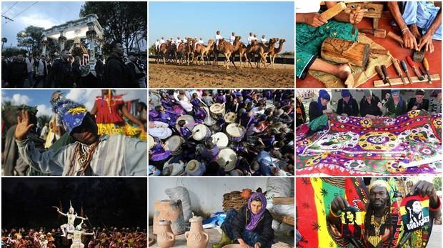 Algunas de las tradiciones inscritas en la lista del patrimonio cultural inmaterial de la humanidad