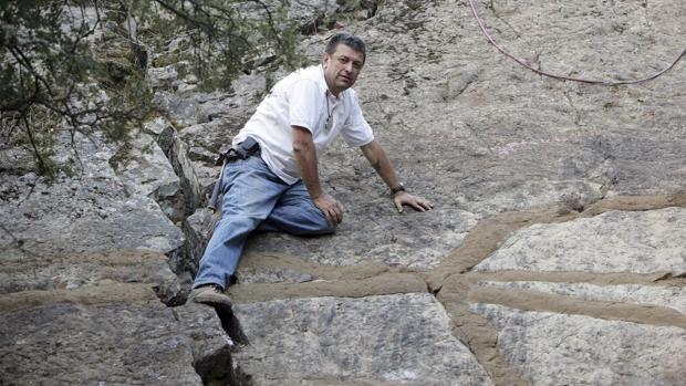 Huellas dejadas por gusanos gigantes hace 475 millones de años en una zona que entonces era el fondo del mar, en Cabañeros