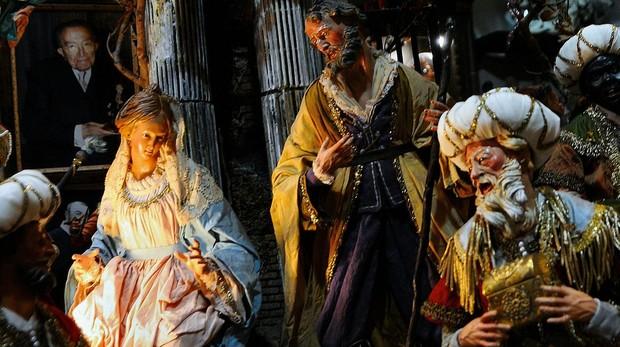 Detalle de un nacimiento del belenista Di Virgilio