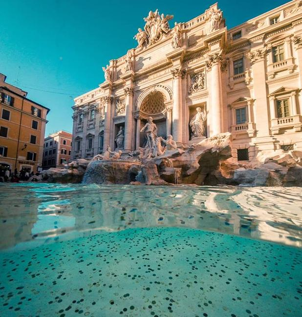 Las monedas arrojadas por los turistas en la Fontana di Trevi