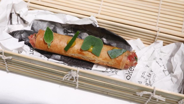 Steak tartar con toques yodados y de vegetales, ganador del concurso de tapas de Madrid Fusión