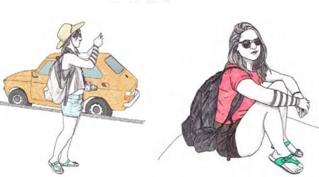 Ilustración de Andrea Bergareche de su libro «Yo Viajo Sola»