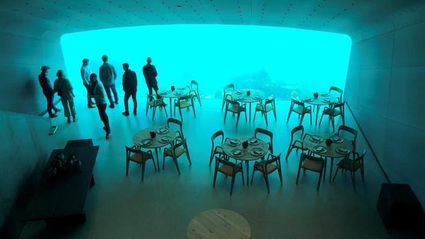 Vista del restaurante Under, en Baaly, Noruega
