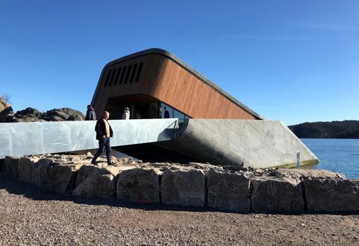 Exterior del restaurante Under, en Noruega