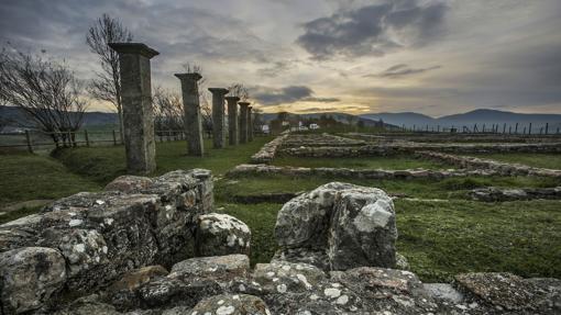 Vista del yacimiento arqueológico de Julióbriga, en Retortillo