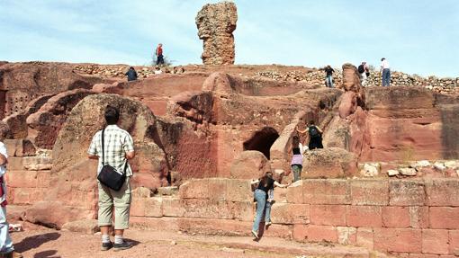 Vista general del yacimiento arqueológico soriano de Tiermes