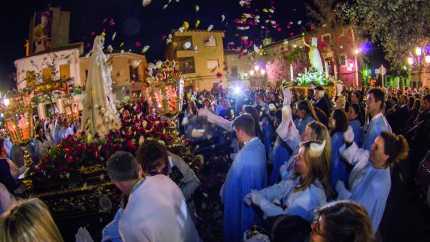 Un momento del fervoroso «Encuentro» en Quintanar de la Orden (Toledo)