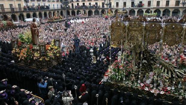 El Encuentro es uno de los principales actos de la Semana Santa en León