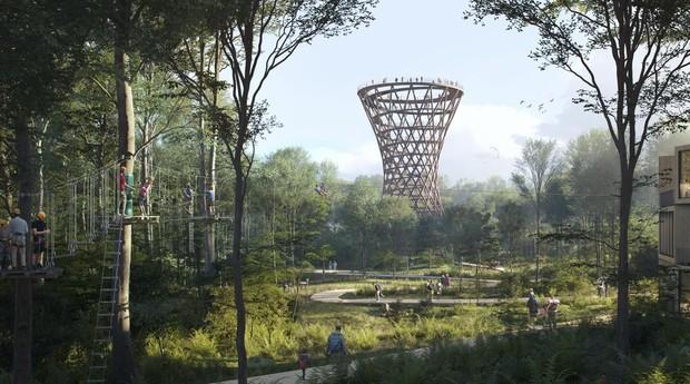 Torre de Camp Adventures, en Dinamarca
