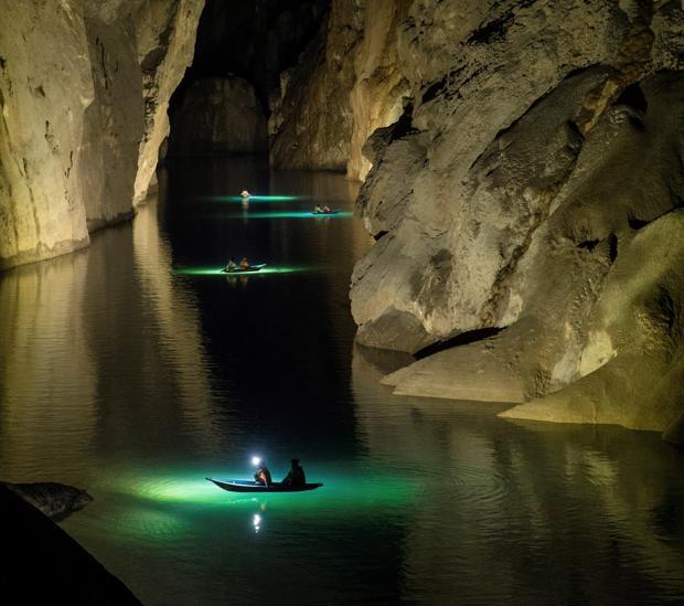Imagen facilitada por Oxalis de la cueva de Son Doong, la más grande del mundo, en el centro de Vietnam