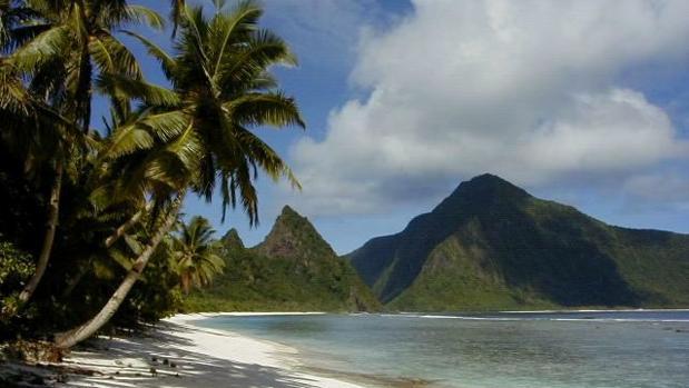 Playa en Samoa Americana