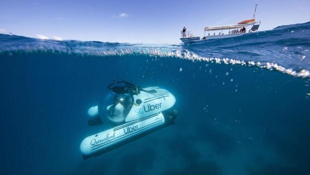 Submarino de Uber en la Gran Barrera de Coral australiana