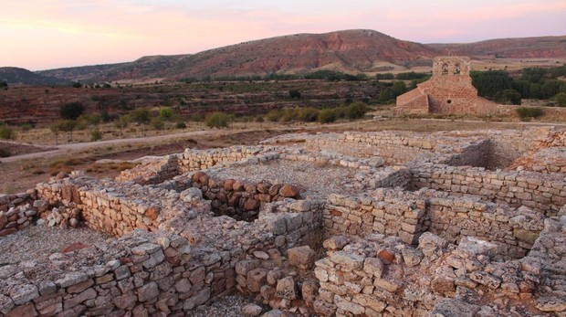 Excavaciones en el yacimiento soriano de Tiermes, en el término municipal de Montejo de Tiermes