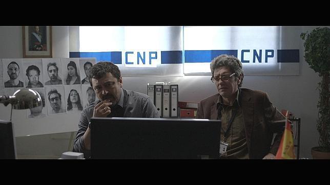 """Antonio Dechent (a la derecha) en una imagen de """"Amateur"""" (20')"""
