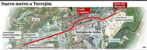 El metro unir torrej n con chamart n en 20 minutos for Oficina de empleo torrejon de ardoz